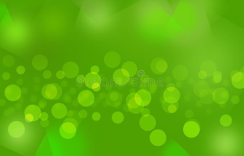 Green_colorful bubbles_ rozmyty tło fotografia stock