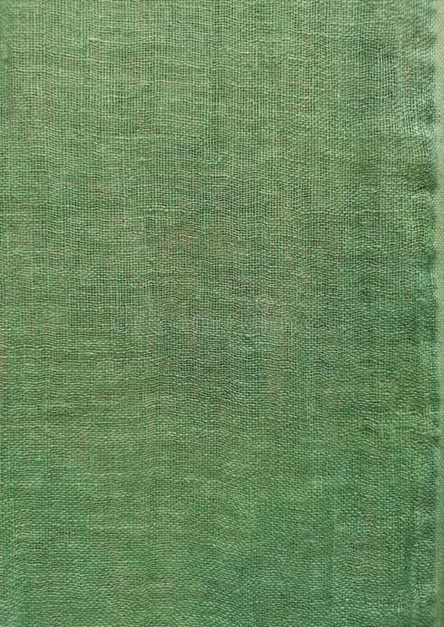 Green coloured linen, background royalty free stock images