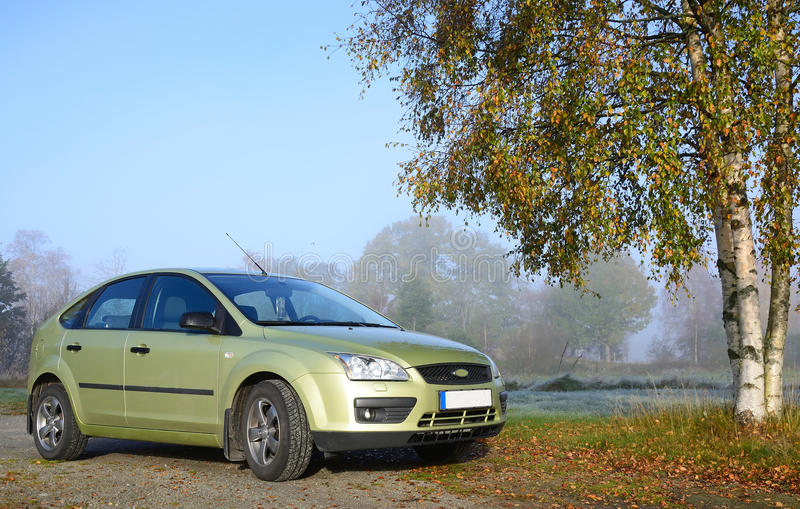Download Green compact car stock image. Image of landscaped, fast - 22516043