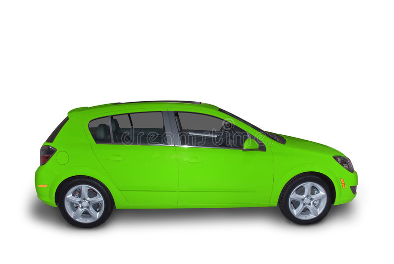 Green Compact Hybrid stock image