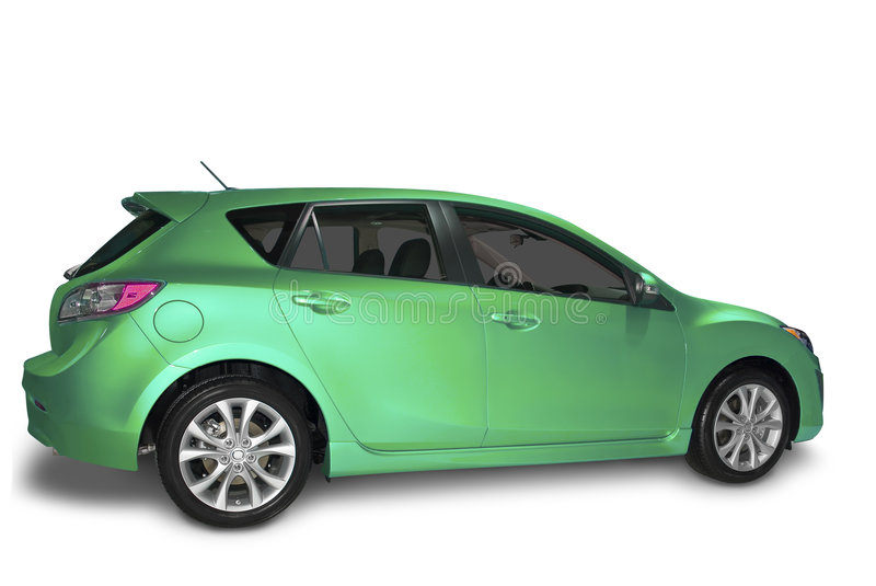 Green Compact Hybrid royalty free stock image
