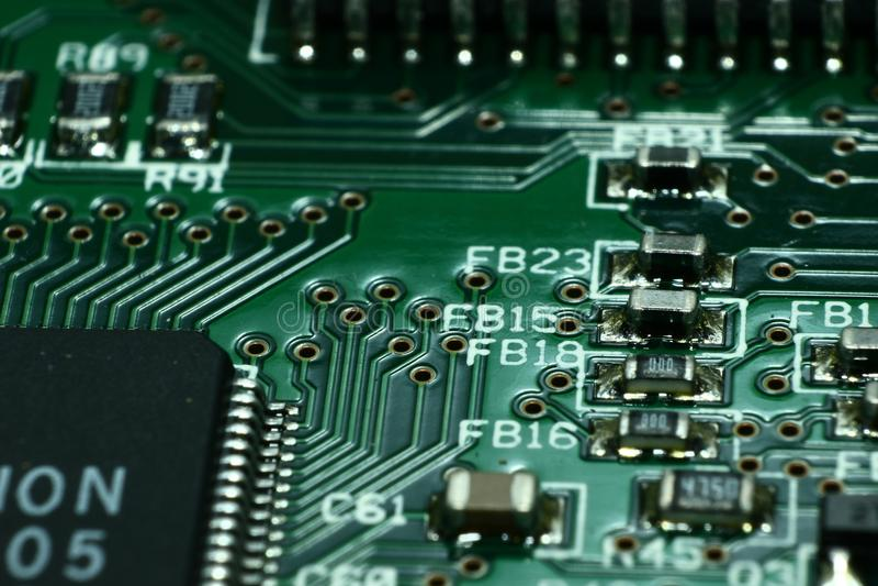 Green Computer Circuit Board royalty free stock image