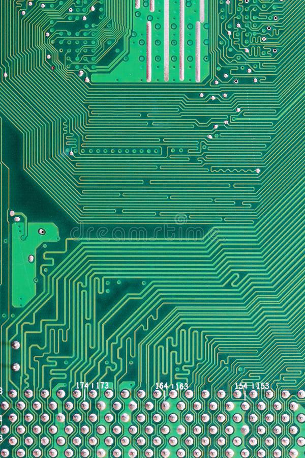 Green Computer motherboard surface of technology background. Green Computer motherboard surface of technology background for design backdrop in your work idea stock photo