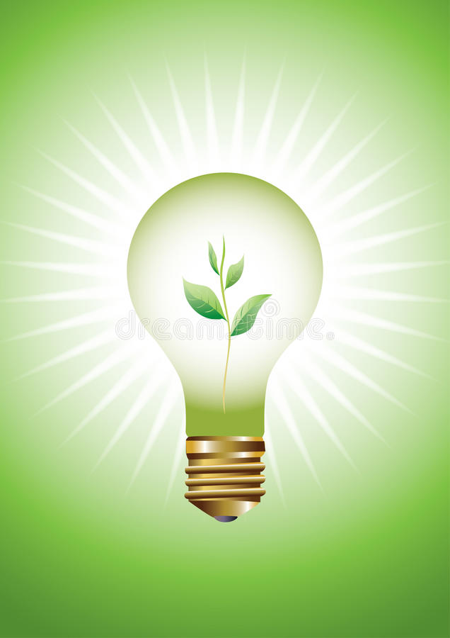 Download Green concept stock vector. Image of idea, leaves, lighting - 13299757