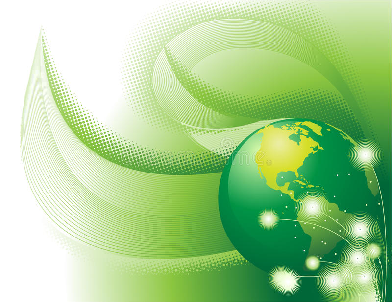 Green Concept Abstract stock illustration