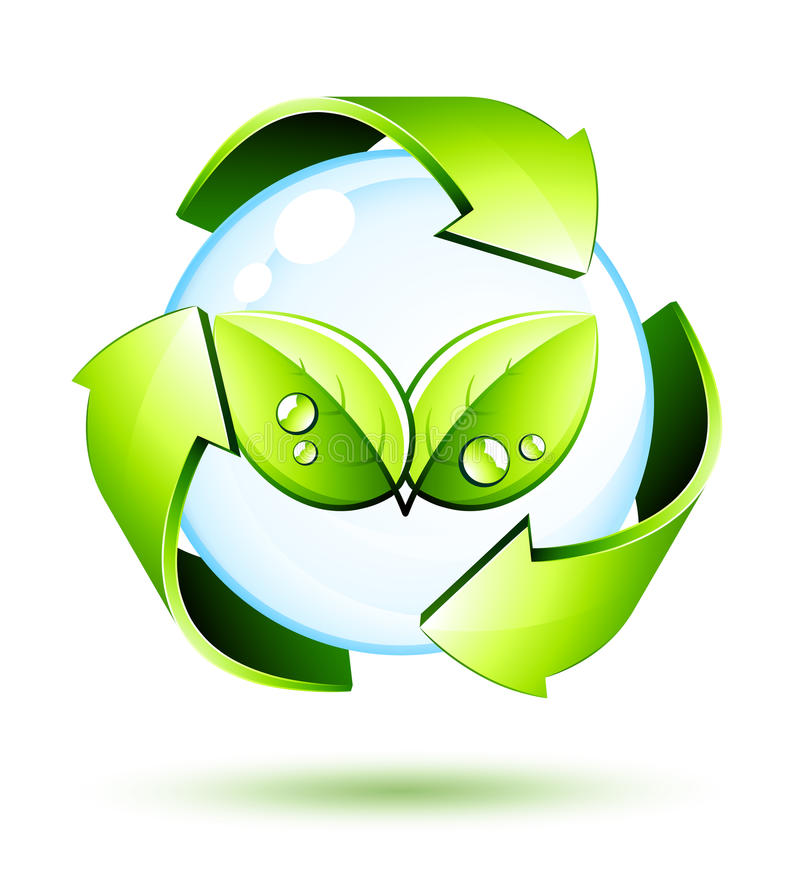 Green concept symbol royalty free illustration