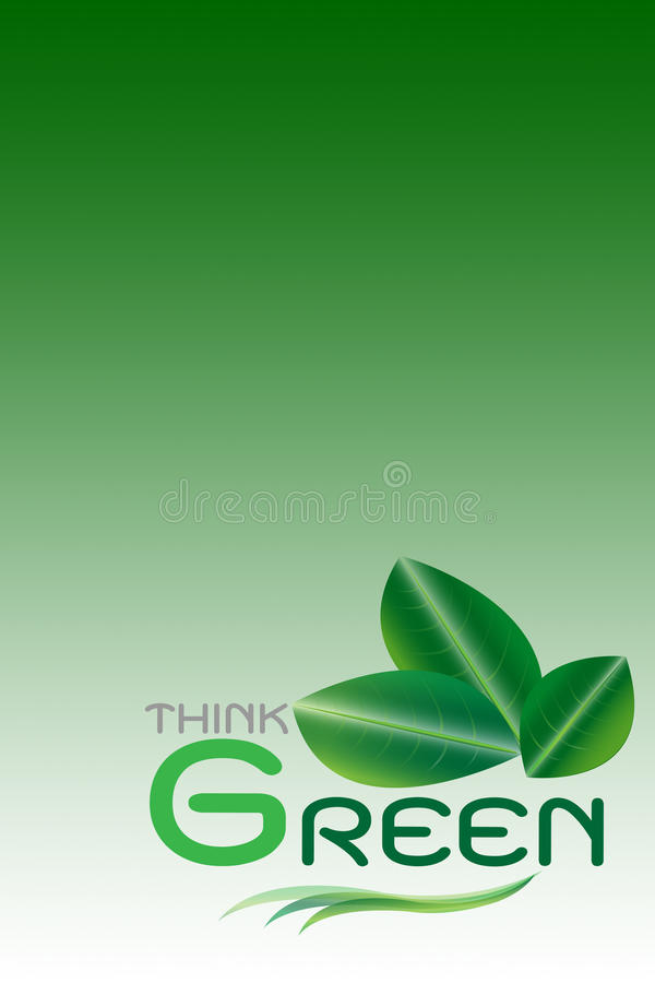 Green Concept, Think Green(include Clipping Paths)