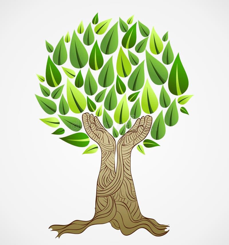 Green concept tree royalty free illustration