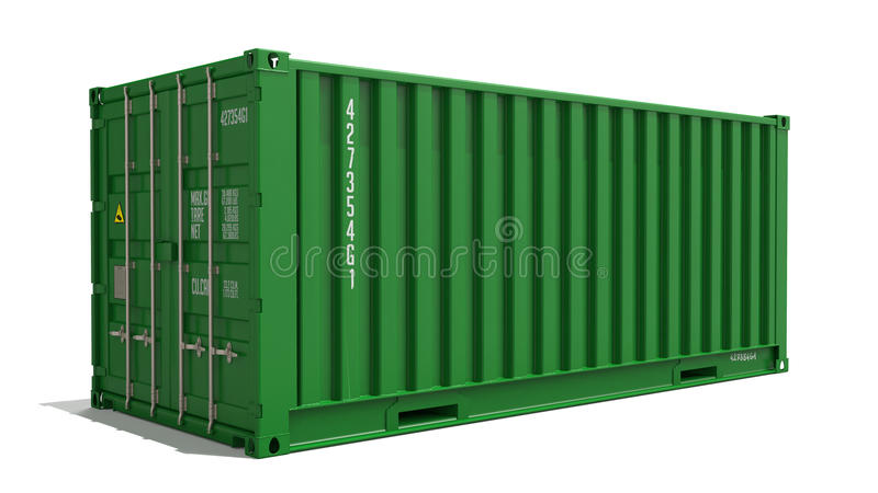 Green Container on Isolated Background. royalty free illustration