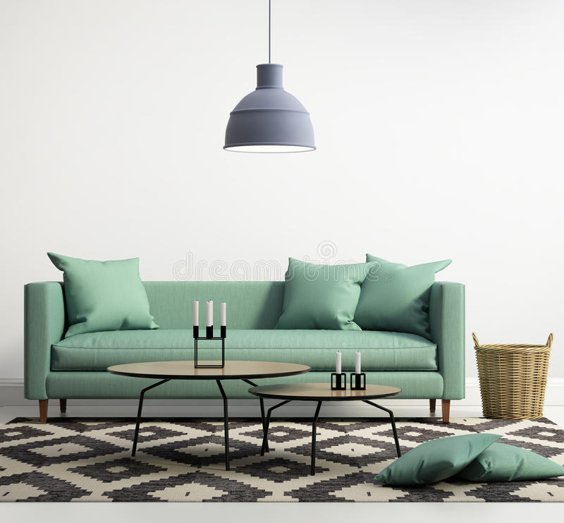Green contemporary modern sofa royalty free illustration