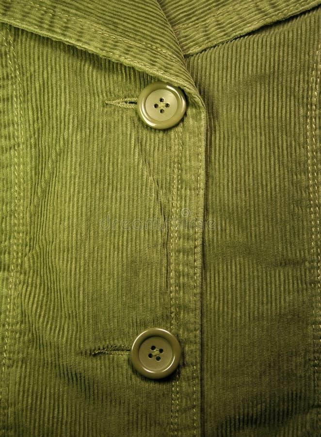 Green corduroy 3 royalty free stock photography