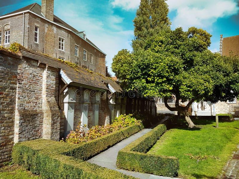 Landscape of Bruges royalty free stock image