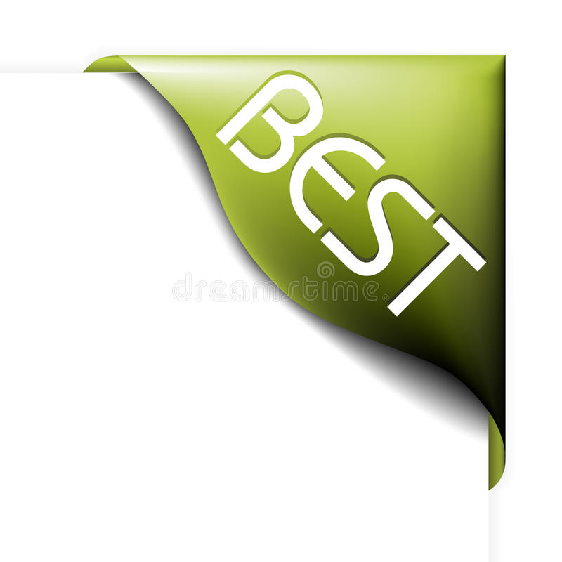 Free Green Corner Ribbon For Bestseller Royalty Free Stock Photo - 11102675