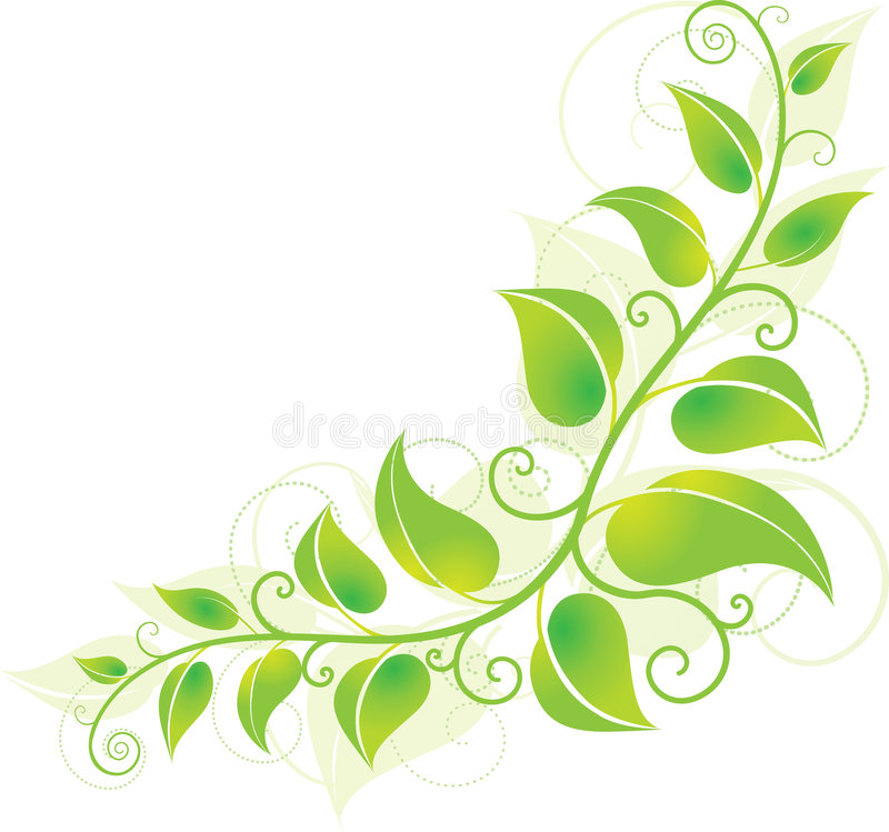 Green corner vine stock illustration