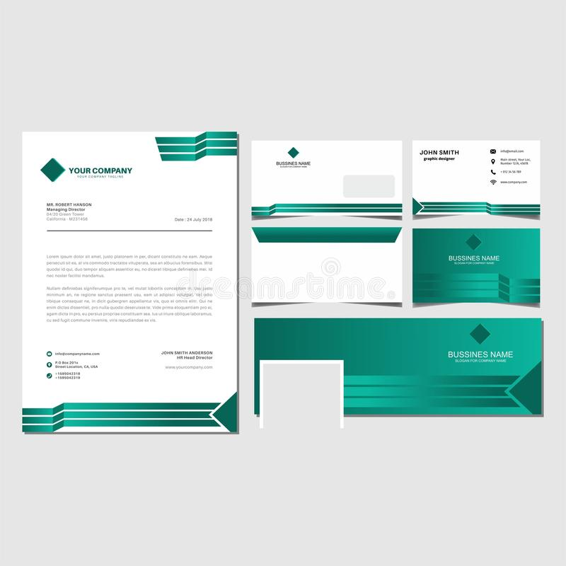 Free Green Corporate Identity Set Template Vector And Envalop,bussines Card,facebook Cover Background Royalty Free Stock Image - 116861866
