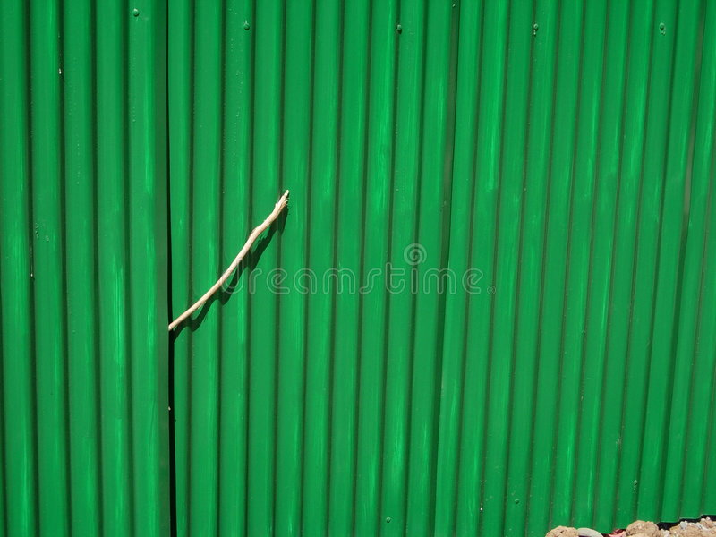 Download Green Corrugated Fencing stock photo. Image of ripples - 471488