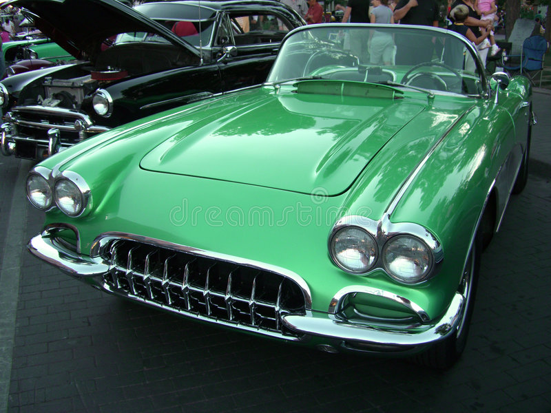 Download Green Corvette Royalty Free Stock Photo - Image: 938385