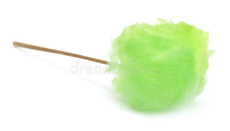 Green cotton candy royalty free stock images