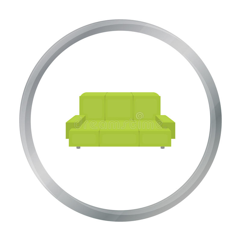 Green Couch Icon In Monochrome Style Isolated On White Background Office Furniture And Interior Symbol Stock Vector Stock Vector Illustration Of Logo Living 85872481