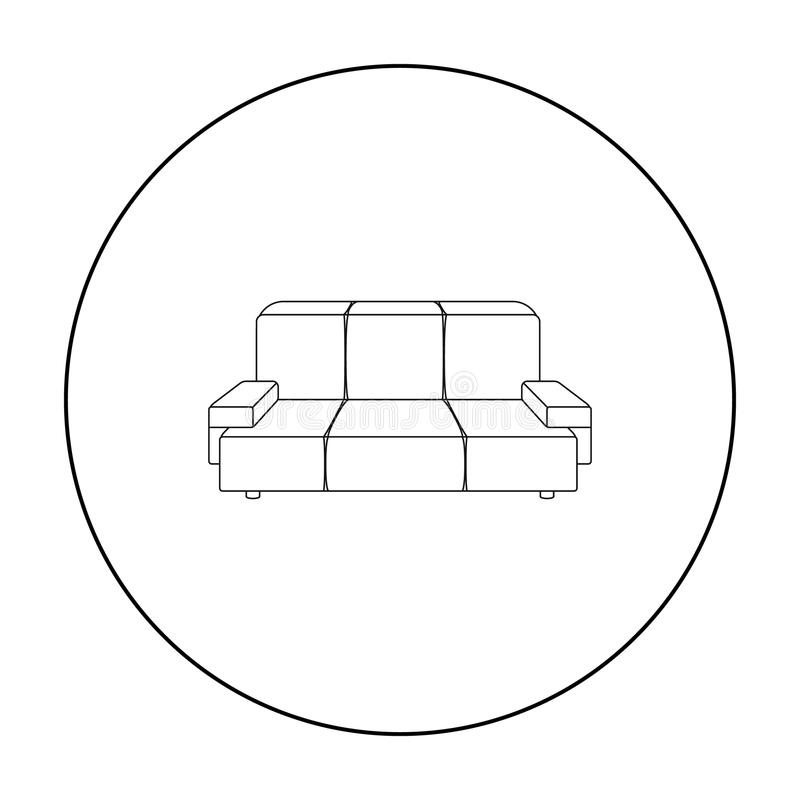 Green Couch Icon In Outline Style Isolated On White Background Office Furniture And Interior Symbol Stock Vector Stock Vector Illustration Of Decoration Couch 86520175