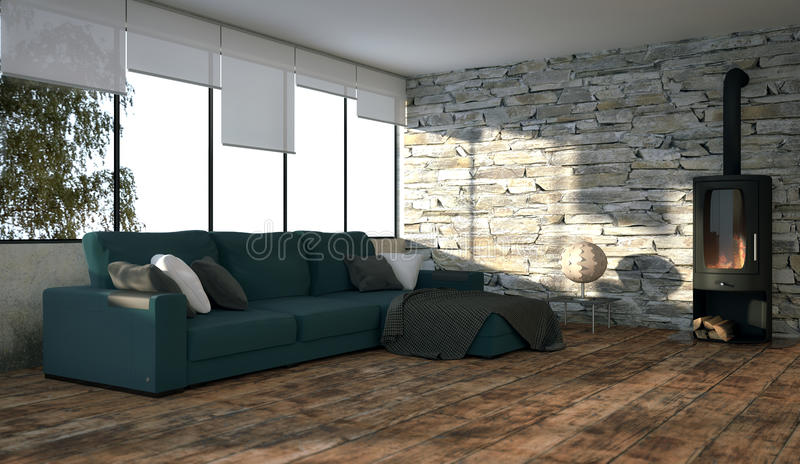 Download Green Couch stock illustration. Image of oven, shabby - 35332586