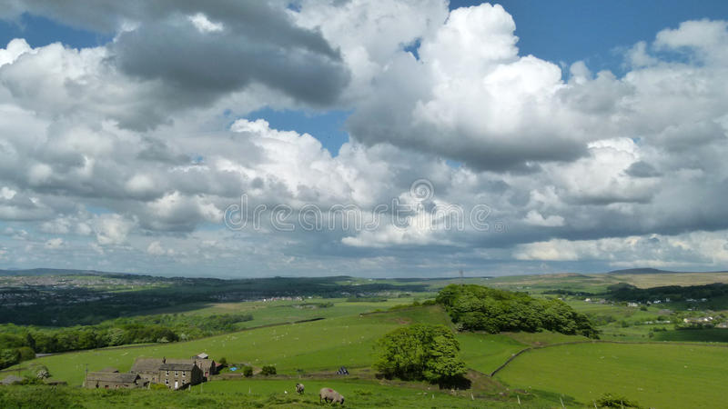 Green Countryside Landscape Royalty Free Stock Photos
