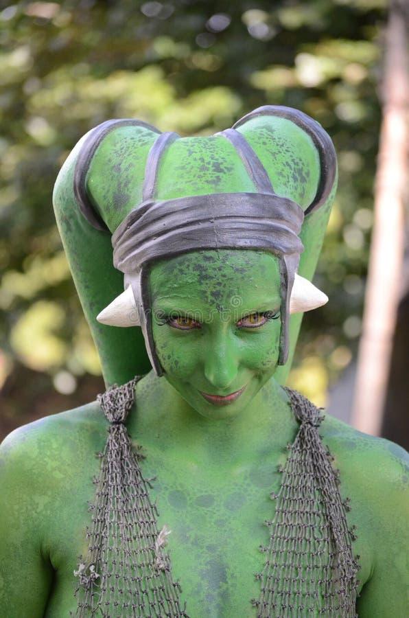 Green creature star wars stock image