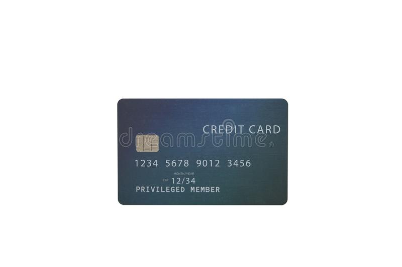 Green credit card on white background. Highly detailed mock up  Green credit card on white background stock photos