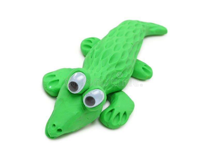 Green crocodile royalty free stock photos