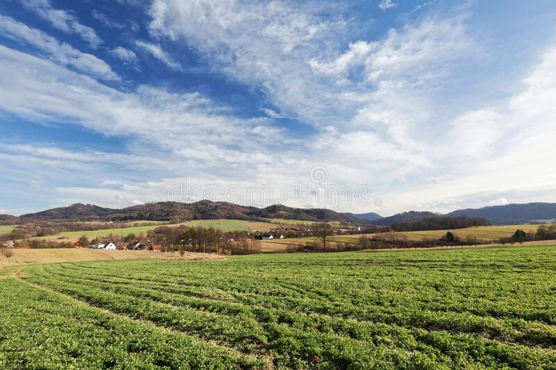 Green Crops Under White Clouds And Blue Sky During Daytime Free Public Domain Cc0 Image