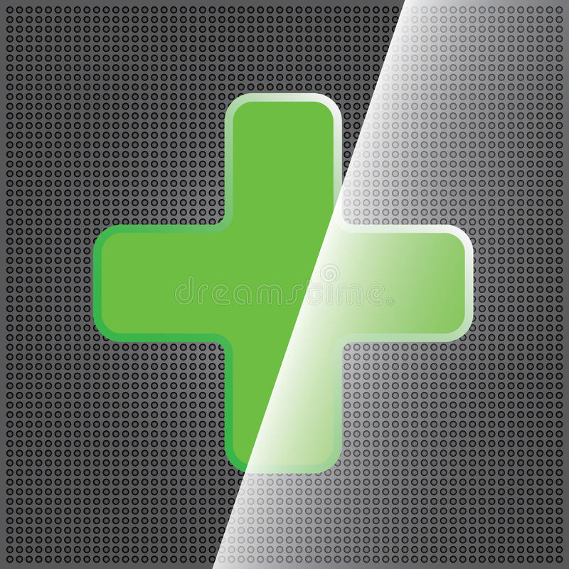 Green cross clean icon vector illustration