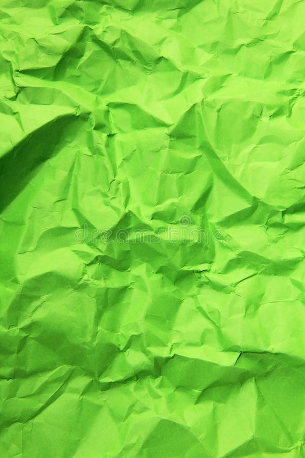Green Crumpled Paper royalty free stock photography