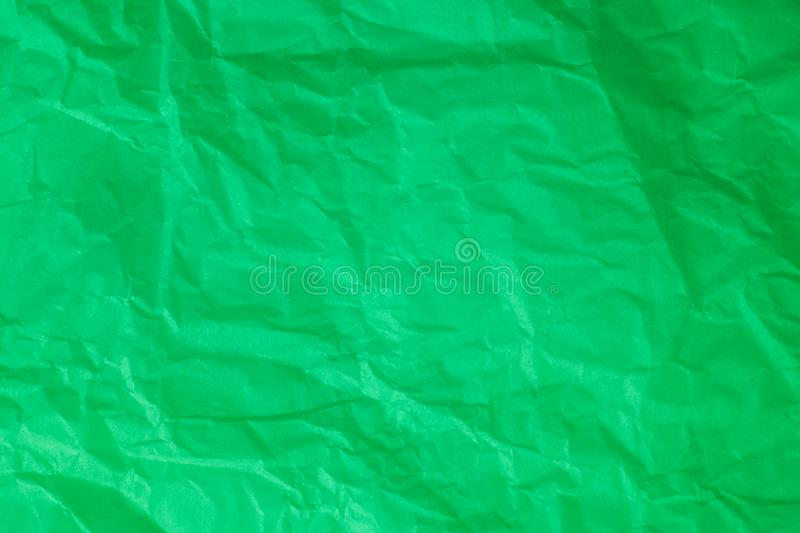 Green crumpled paper background. Green crumpled paper a background royalty free illustration