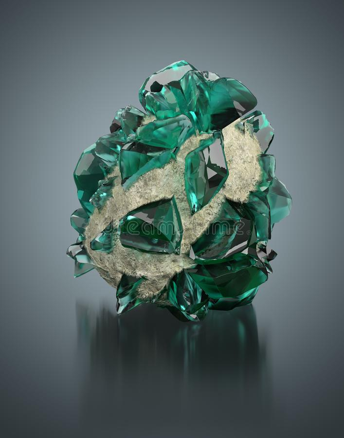 Green crystal stock illustration
