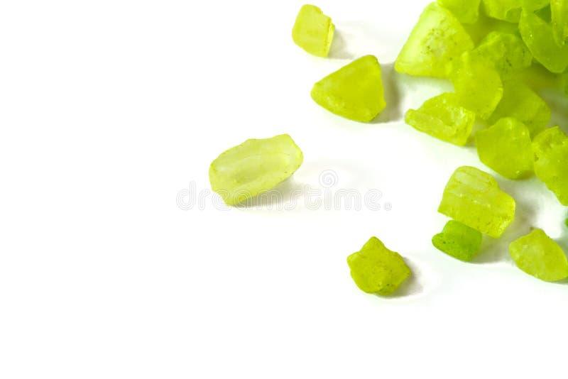 Green crystals royalty free stock image