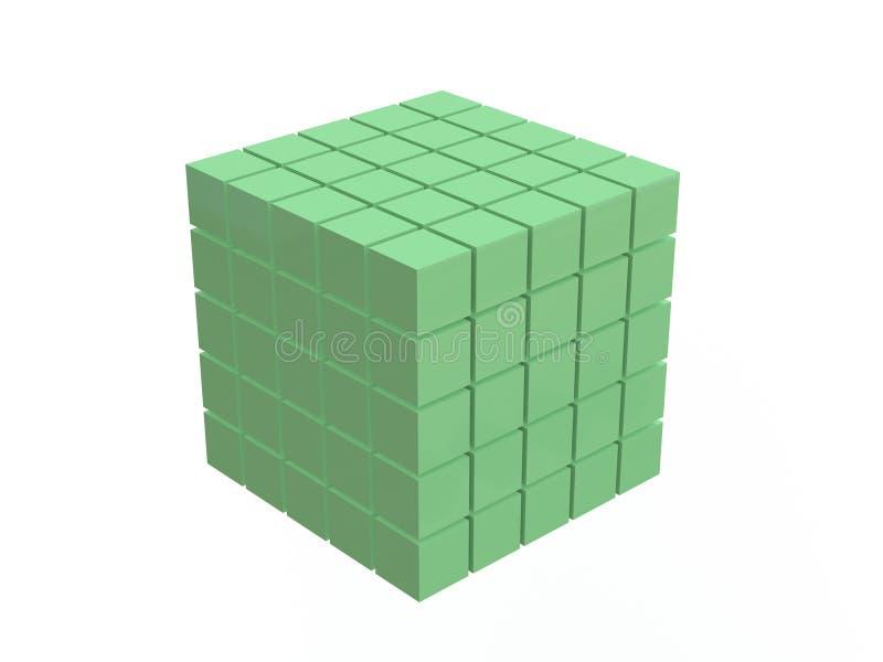 Green Cube Royalty Free Stock Photos