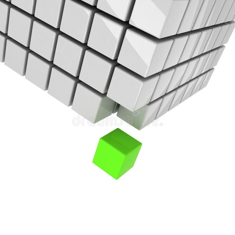 Green cube concept royalty free illustration