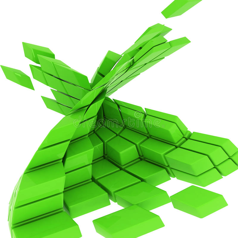 Download Green Cubes Abstract Background Stock Illustration - Image: 24372389