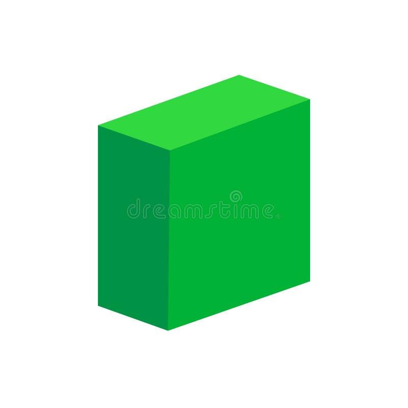 Free Green Cuboid Basic Simple 3d Shapes Isolated On White Background, Geometric Cuboid Box Icon, 3d Shape Symbol Cuboid, Clip Art Royalty Free Stock Photo - 144602425