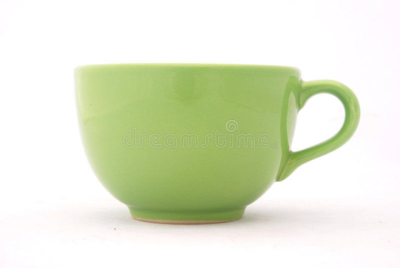 Green cup stock photo