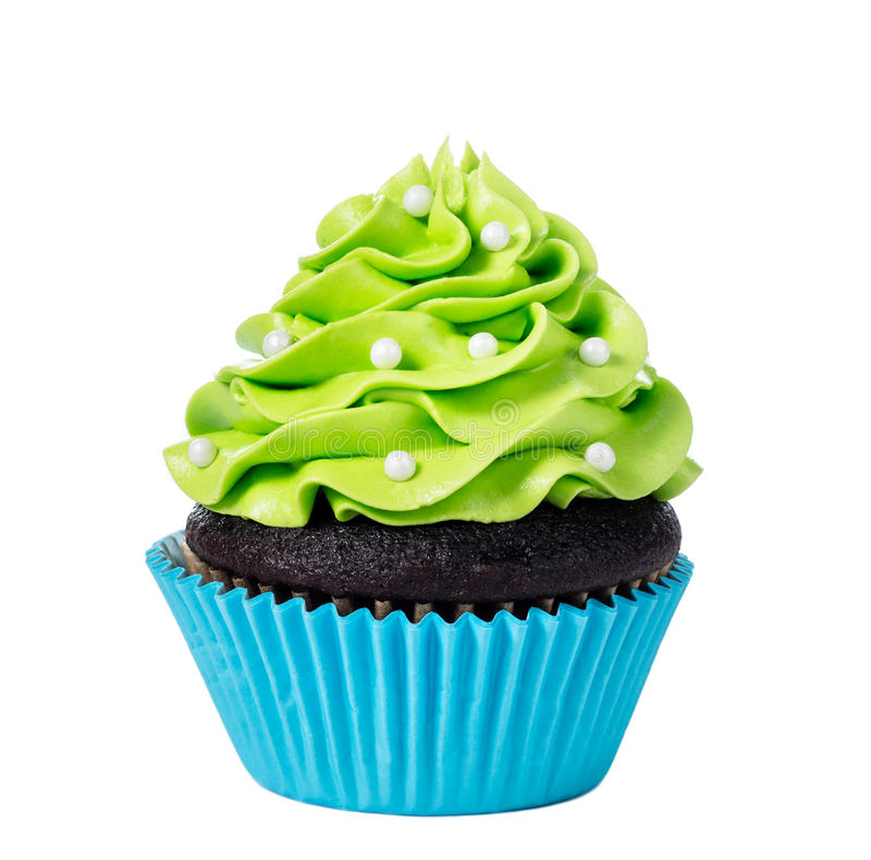 Green Cupcake stock images