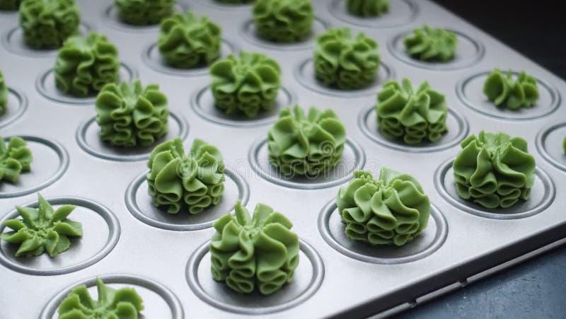 Green Cupcake Lot royalty free stock photography