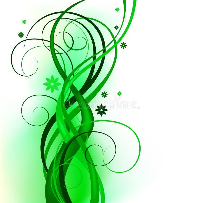 Green_curly_design 向量例证