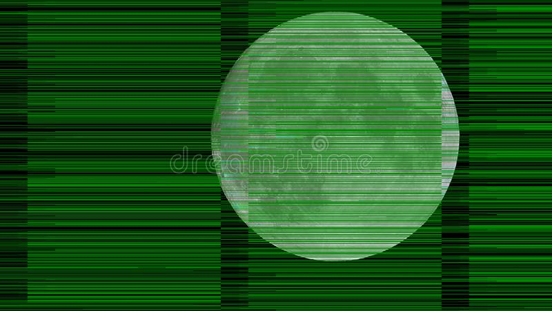green curtain moon royalty free stock photography