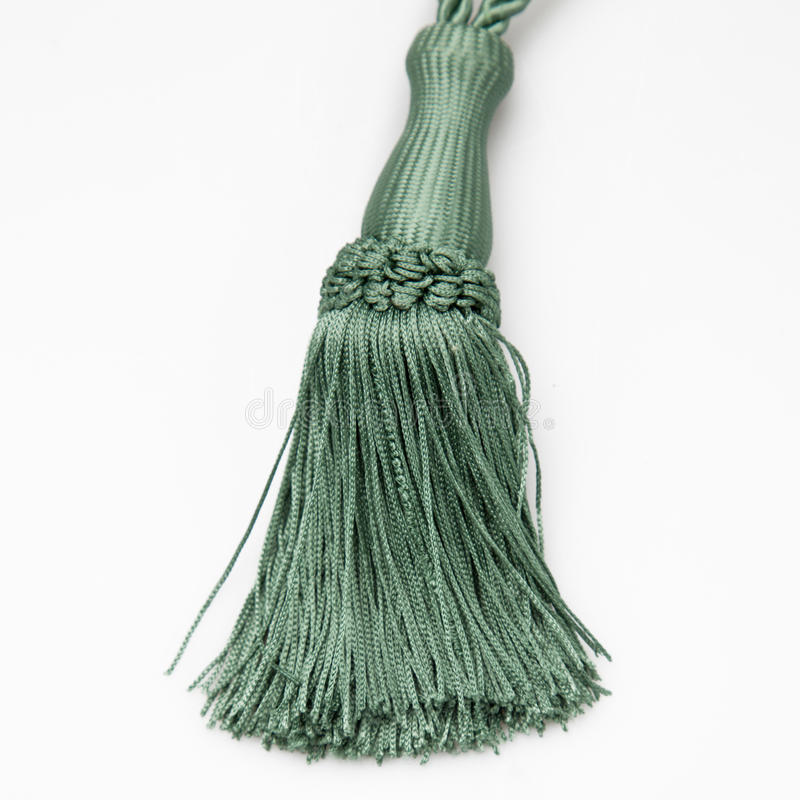 Green curtains tassel royalty free stock photo