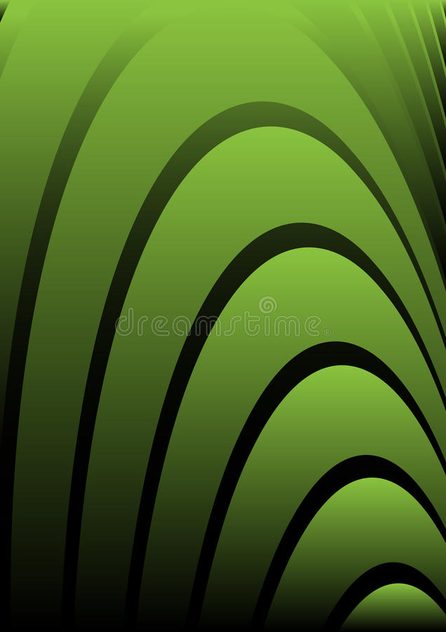 Green curvatures stock photo