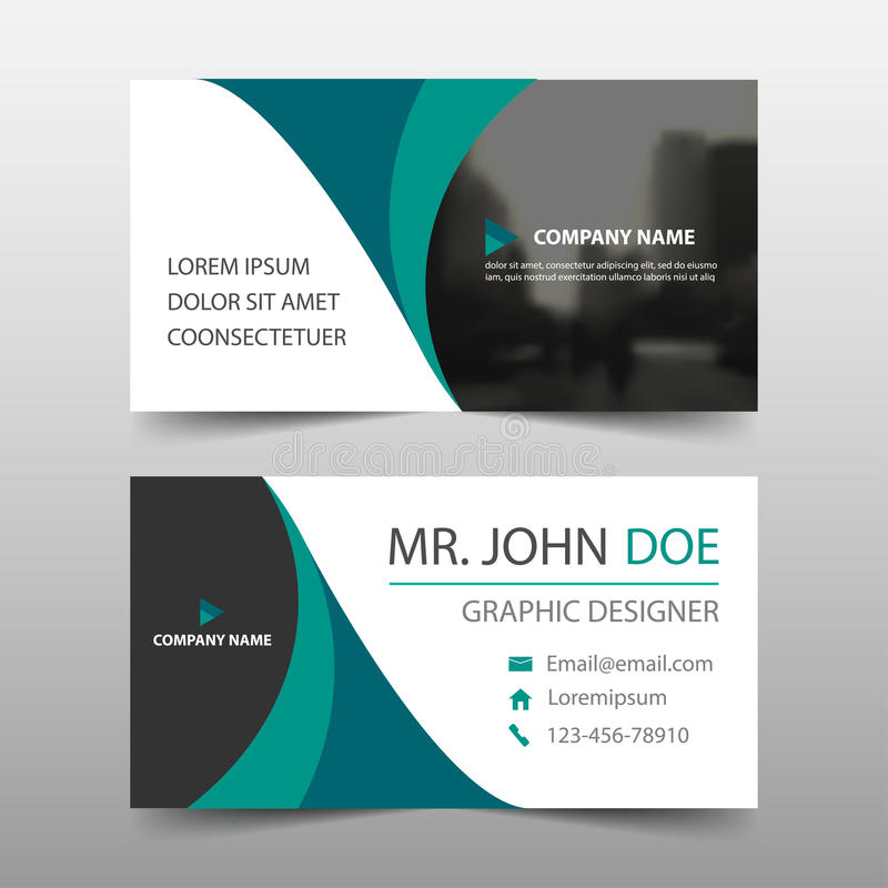 Green curve corporate business card, name card template ,horizontal simple clean layout design template , Business banner template royalty free illustration