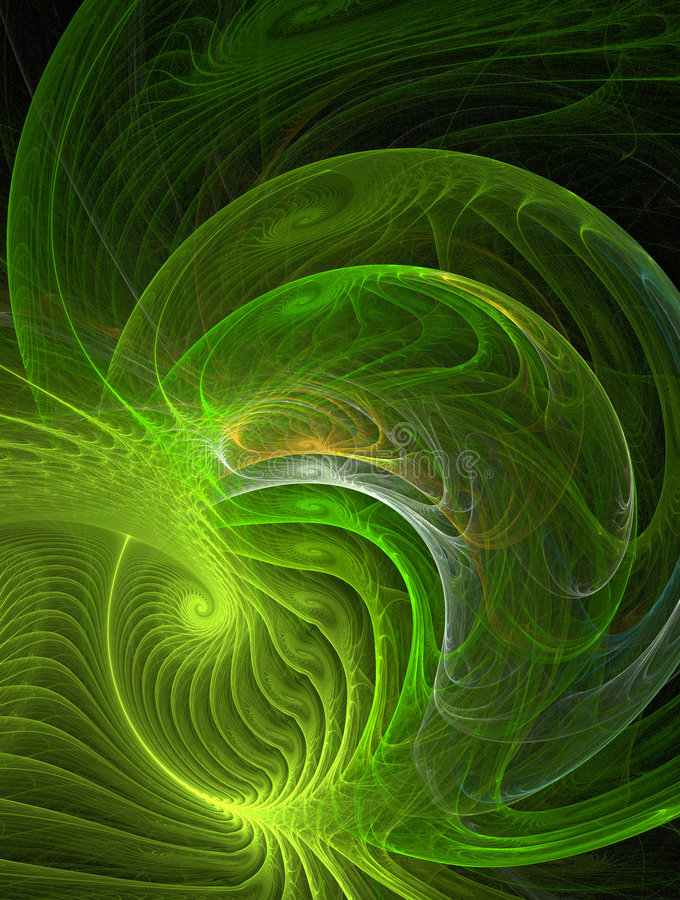 Green curves stock illustration