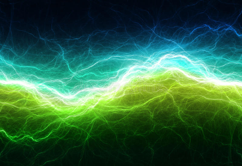 Green and cyan electric lighting stock illustration