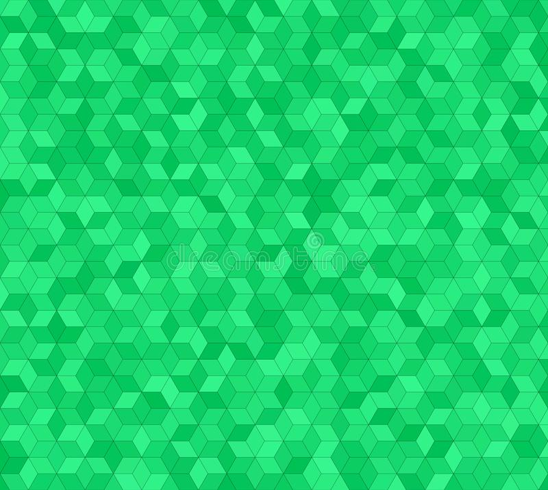 Green 3d cube mosaic pattern background design stock illustration
